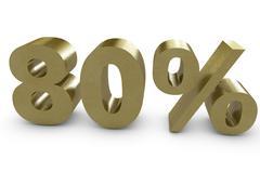 eighty percent - stock illustration