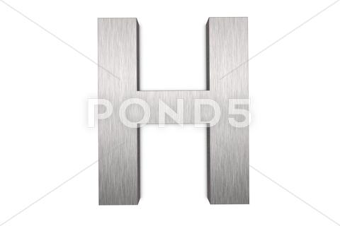 Stock Illustration of letter h
