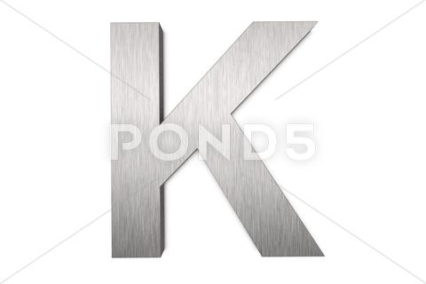 Stock Illustration of letter k