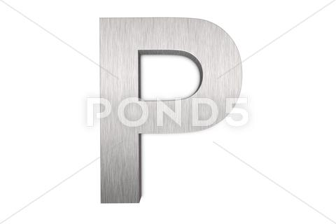 Stock Illustration of letter p
