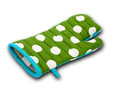 Oven mitt with clipping path Stock Photos