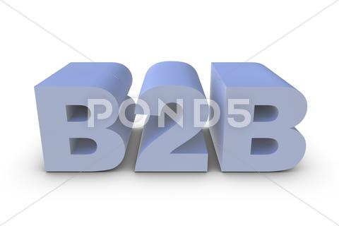 Stock Illustration of b2b letter