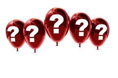 balloon interrogation mark - stock illustration