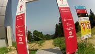 Downhill Mountain Bike Race Track 1 Stock Footage