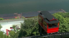 Duquesne Incline car traveling up Mt. Washin Stock Footage