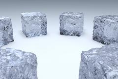 Ice cube Stock Illustration