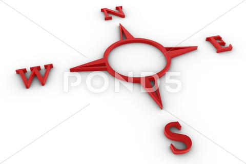 Stock Illustration of red compass