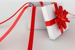 Stock Illustration of opened giftbox in 3d