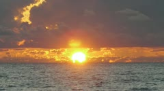 Sunrise in Miami Florida south beach 30p Stock Footage