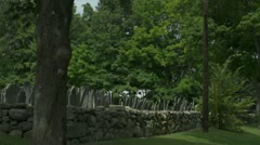 Old Cemetery in New Hampshire Stock Footage
