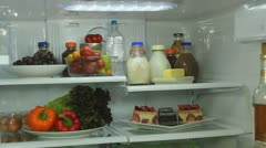 Refrigerator Healthy Food Choices Stock Footage