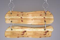 wood signboard - stock illustration