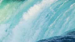 Flowing Waterfall Producing Hydroelectric Power Stock Footage