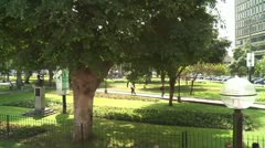 Park in Lima, Parque-Kennedy Stock Footage