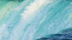 Mass Fast Flowing Waterfalls Stock Footage