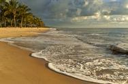 Sunrise on beach at guaratiba resort Stock Photos