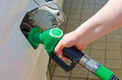 car fuelling - stock photo