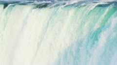 Mass Fast Flowing Water Used Hydro Power Stock Footage