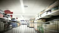Stock Video Footage of Shopping Cart Time Lapse