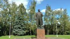 Lenin monument Stock Footage