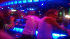 Nightlife dance party crowd Zoom Blur Stock Footage