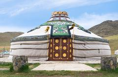 Mongolian jurt Stock Photos