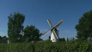 White Dutch windmill anno 1891 01i Stock Footage