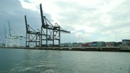 Stock Video Footage of Port of Miami containers 30p