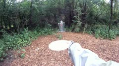 Disc Golf helmet cam Stock Footage