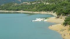 Lake of Sainte-Croix France Stock Footage