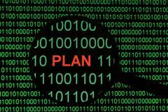 plan on binary dat - stock photo