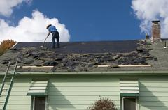Roofing Repairs - stock photo