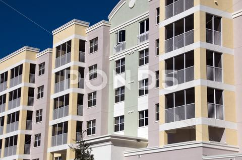 Stock photo of high rise condos
