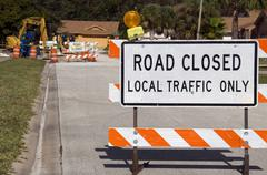 Road Closed - stock photo