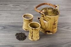 Freshly brewed green tea Stock Photos