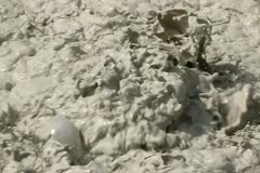 Lassen HS10 Slow Motion 240fps Sulphur Works Mud Pot Stock Footage