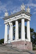 Colonnade in volgograd Stock Photos