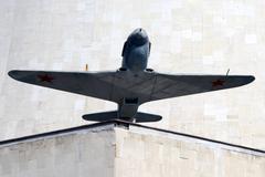soviet airplane - stock photo