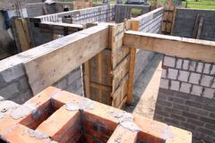 Construction of house Stock Photos