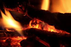 Fire in your fireplace Stock Photos
