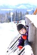 Pensive young girl Stock Photos