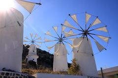 Lasithi - greece windmill - stock photo
