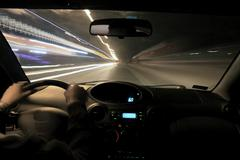 Night drive - stock photo