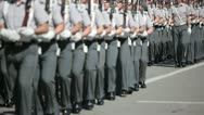 Stock Video Footage of Army Cadets in a Parade
