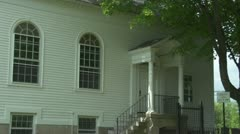 Side of New England Church Building 2 - stock footage