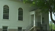 Side of New England Church Building 2 Stock Footage