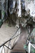 tham nam lod cave - stock photo