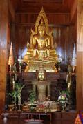 golden buddha - stock photo