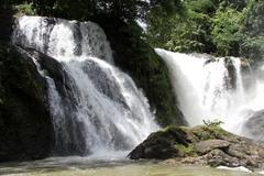 pha sua waterfall - stock photo