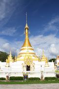wat chong klang, mae hong son - stock photo